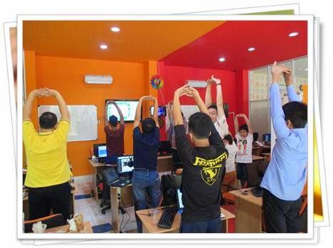 Stretching untuk merenggangkan otot sebelum belajar