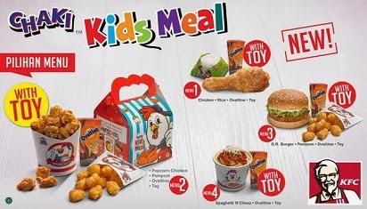 Menu dan Harga Chaki Kids Meal KFC,
