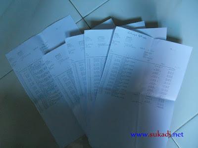 Print out rekening koran BNI