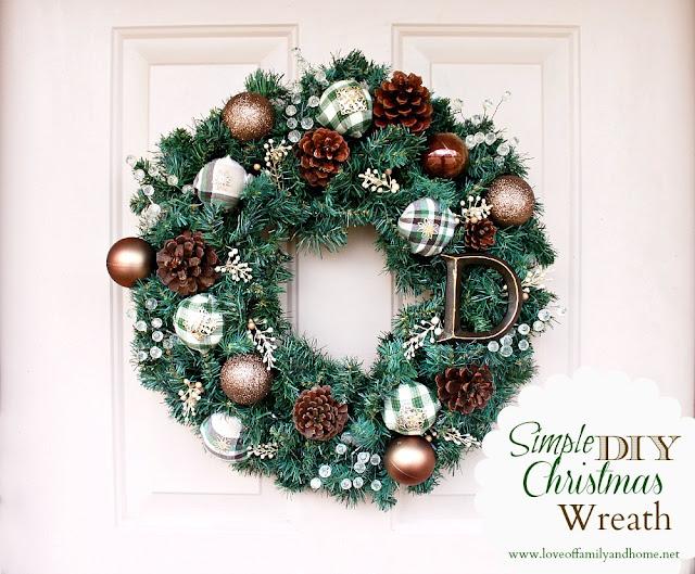 Simple Diy Christmas Wreath Tutorial Love Of Family Home