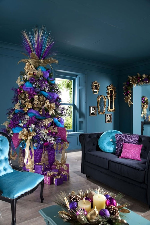 árbol de navidad morado