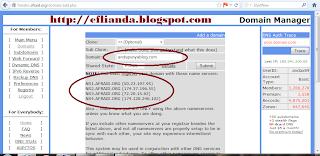 add domain di free dns 1