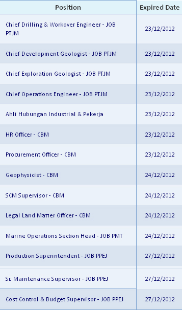 Lowongan Kerja 2013 BUMN Terbaru PT Pertamina Hulu Energi Untuk Lulusan S1 Banyak Posisi - Desember 2012