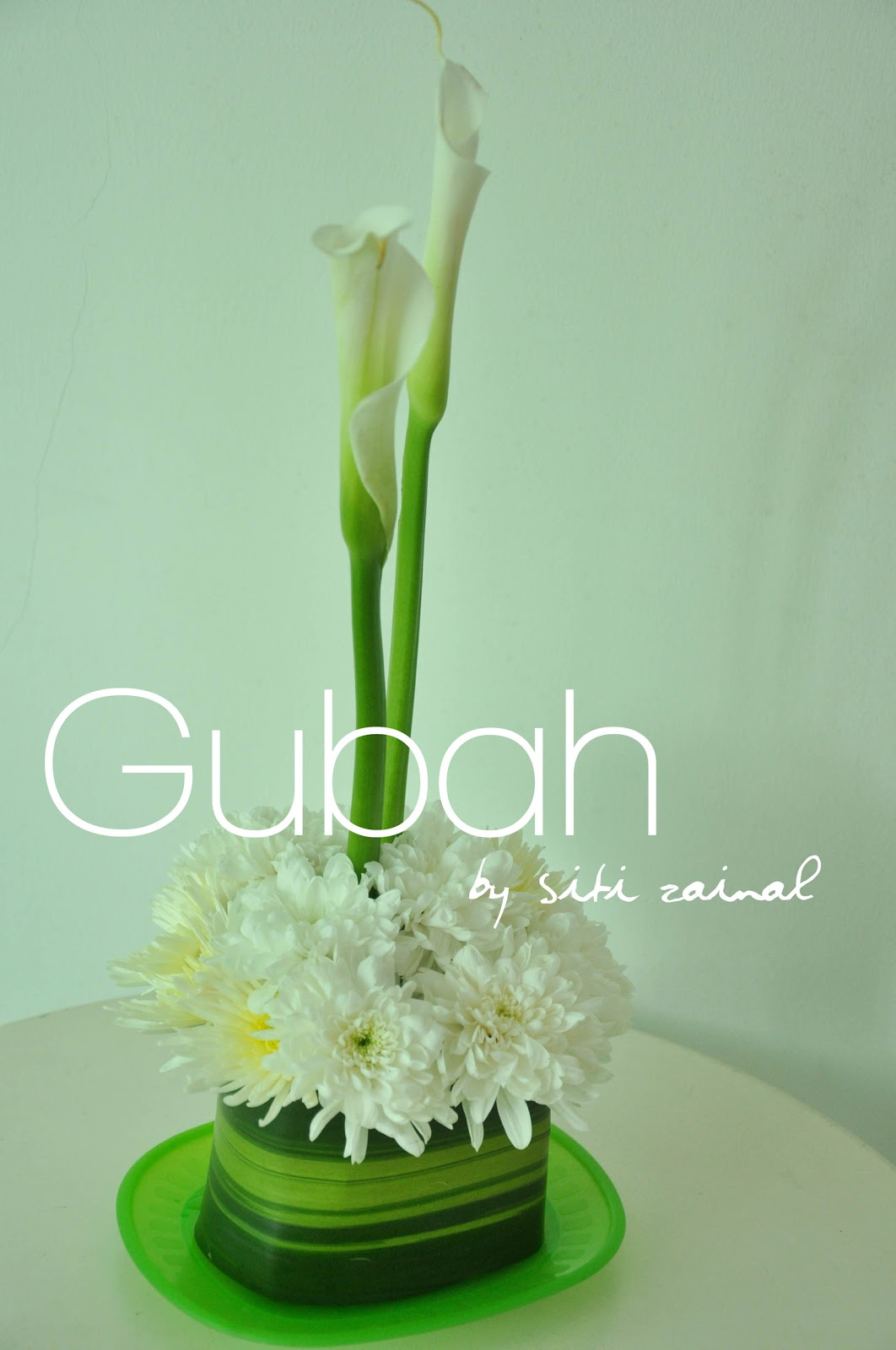 Gubah by siti zainal centerpiece samples calla lilies