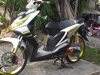 Modifikasi Motor Honda Beat title=