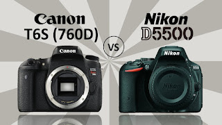 Canon vs Nikon, Canon EOS 760D vs Nikon D5500, Canon EOS 760D specs, Nikon D5500 specs, Full-HD video, Wi-Fi, new DSLR camera, Canon EOS Rebel T6S