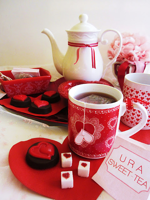We Put Together A Small Valentine Tea Table Using An Assortment Of Items We  Already Owned.We Were Not Willing To Spend On New Things When We Have So  Much ...