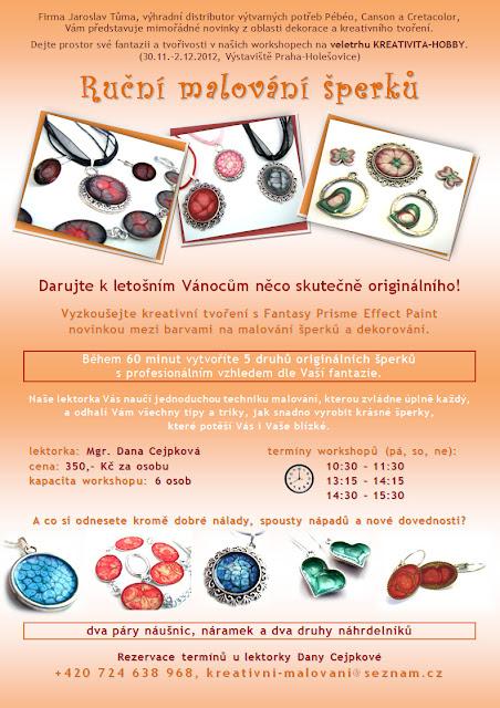 Workshop - ručně malované šperky