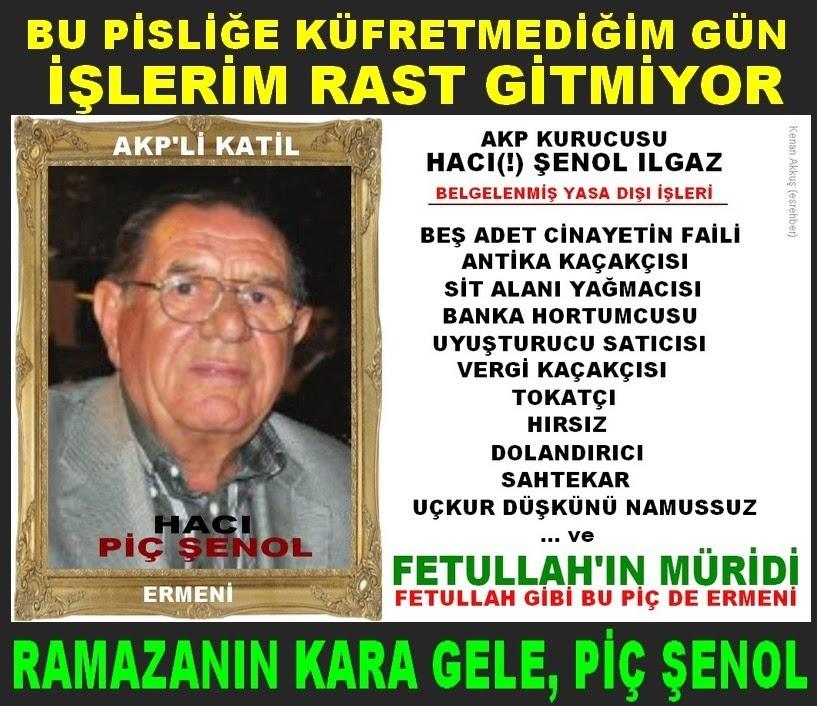 DÜNYANIN EN NAMUSSUZ ADAMI BİR AKP'Lİ: PİÇ ŞENOL