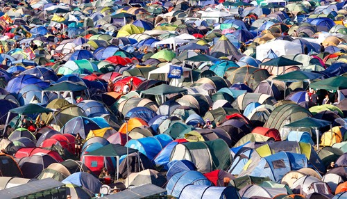 Do not leave valuables in a tent at a festival