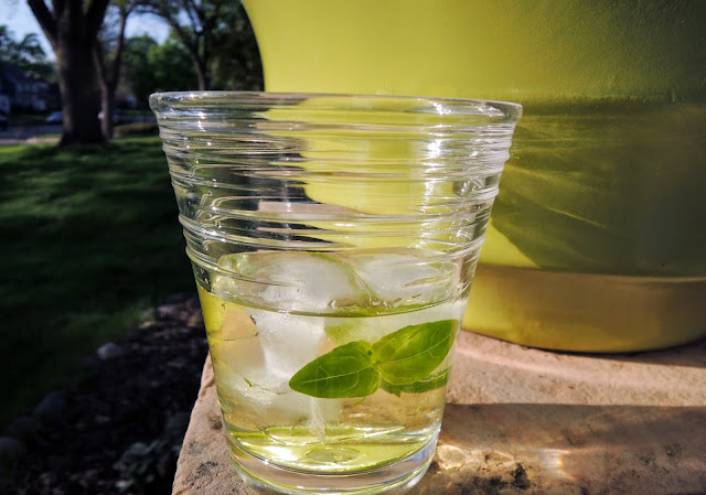 Vodka basil gimlet