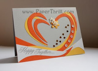 swirl heart congratulatory card