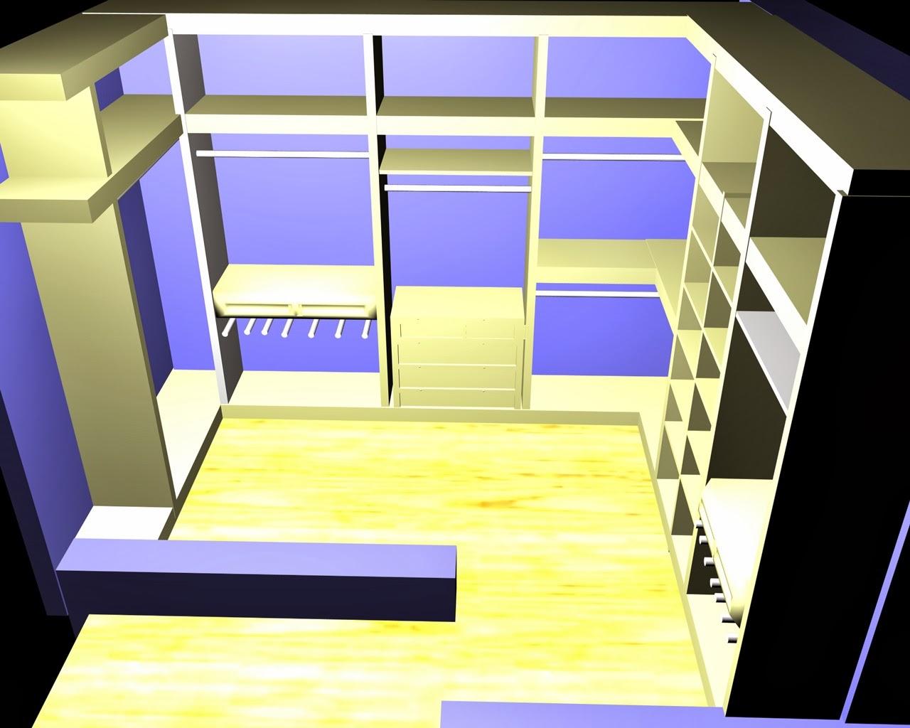 Zona de vestidor diseño de interiores