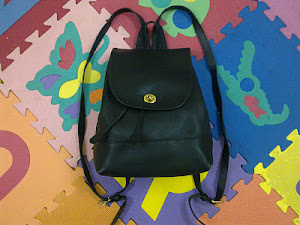 Coach Black Leather Backpack(SOLD)
