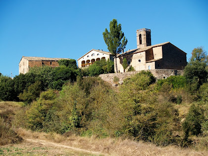 El nucli de Gaià amb El Prat, la rectoria i l'església de Santa Maria