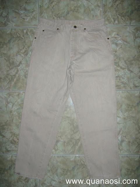 Quần jean trắng WRANGLER size 34 400k