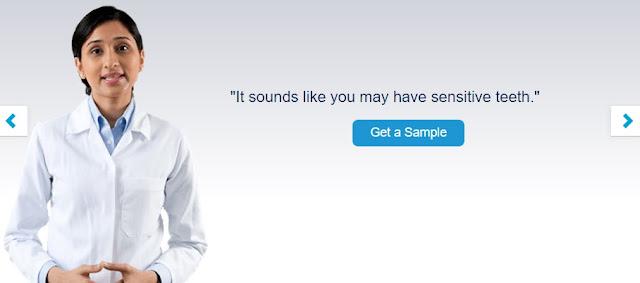 Get Free Sensodyne Toothpaste as Sample