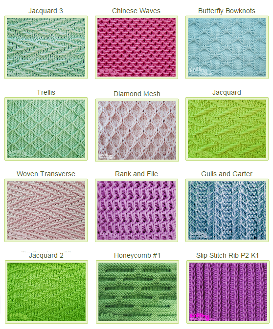 Basic Knitting Stitches Patterns : Slip Stitch Patterns: Simple but Beautiful - Knitting Unlimited