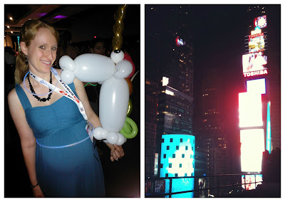 Sparklecorn, glow stick belly, unicorn balloon, Times Square, TRL