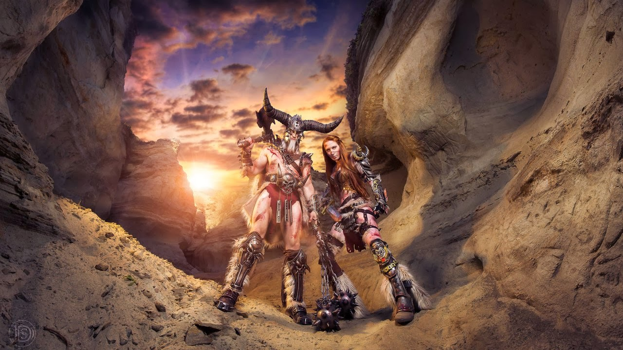 cosplay couple barbare diablo 3