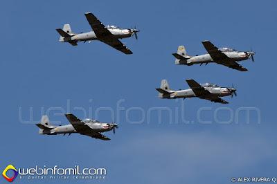 A-29B Supertucano de la Escuadrilla Griffos del Comando Aéreo de Combate No 2