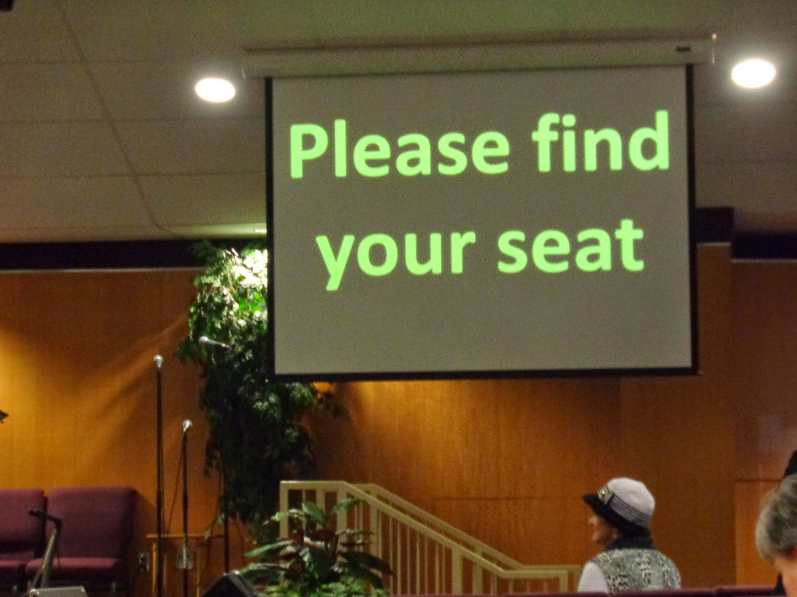 please find your seat