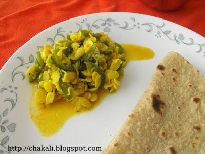 padwal dalimbya, dalimbi usal, padwal bhaji, snake gourd stir fry, snake gourd sabzi, vaal bhaji, vaal recpe, indian curry