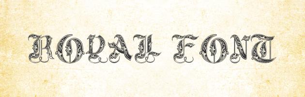 大文字で使う、クラシックで高貴な雰囲気のフォント | オシャレな飾り文字フリーフォント。無料でダウンロード出来て商用利用可。