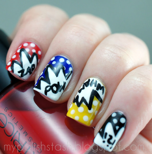 nailart Wah Nails Pow PopArt
