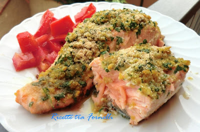 filetto di salmone con crosta di aromi