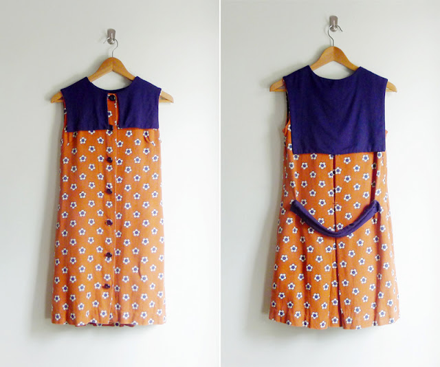 60s sailor bib dress union made