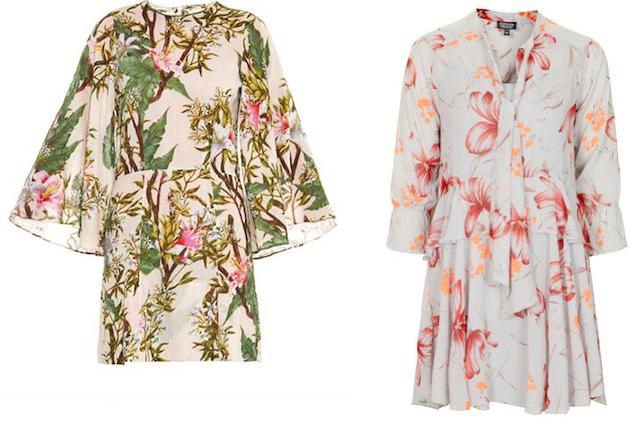 florals ss15 kimono wrap dress