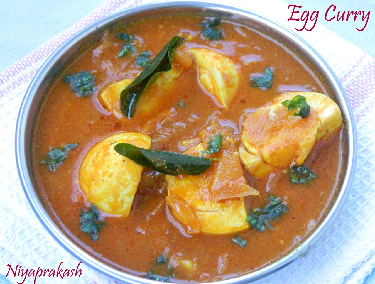 Egg Curry (with tomato puree)
