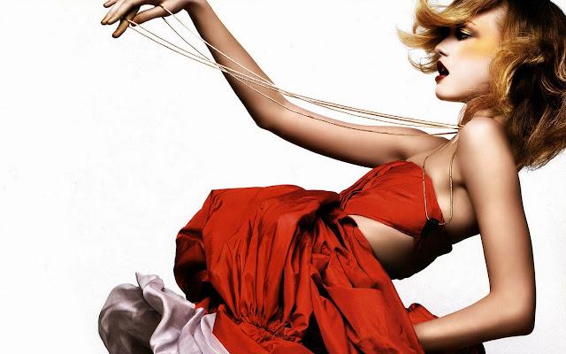 28709-Red Fashion Dress HD Wallpaperz