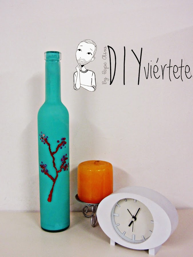 Como pintar botellas - Como pintar botellas de plastico ...