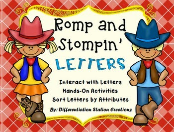 http://www.teacherspayteachers.com/Product/Romp-and-Stomping-Letters-Hands-On-Activities-Sort-Letters-By-Attribute-1283772