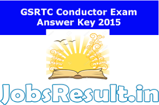 GSRTC Conductor Exam Answer Key 2015