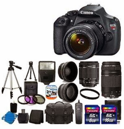 Canon EOS Rebel T5 18MP EF-S Digital SLR Camera