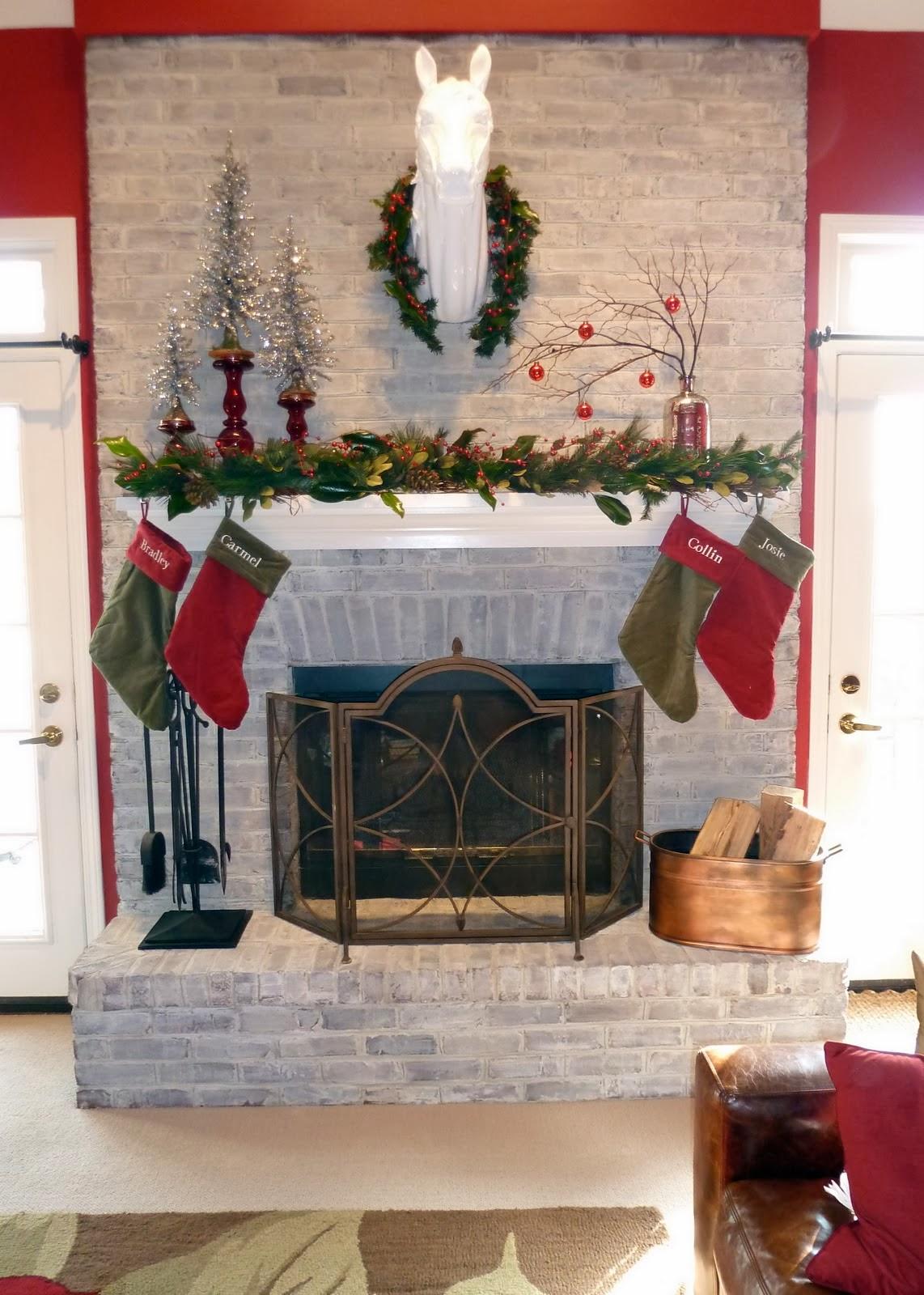 decoracion de chimeneas para navidad parte