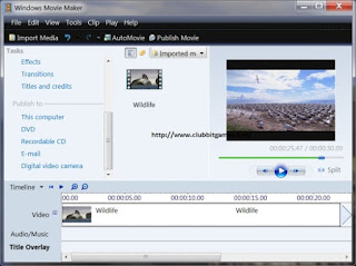 LINK DOWNLOAD APLIKASI Windows Movie Maker 6.1 FOR PC CLUBBIT