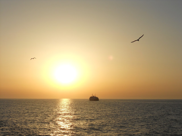 Island of Procida Italy ferry sunset