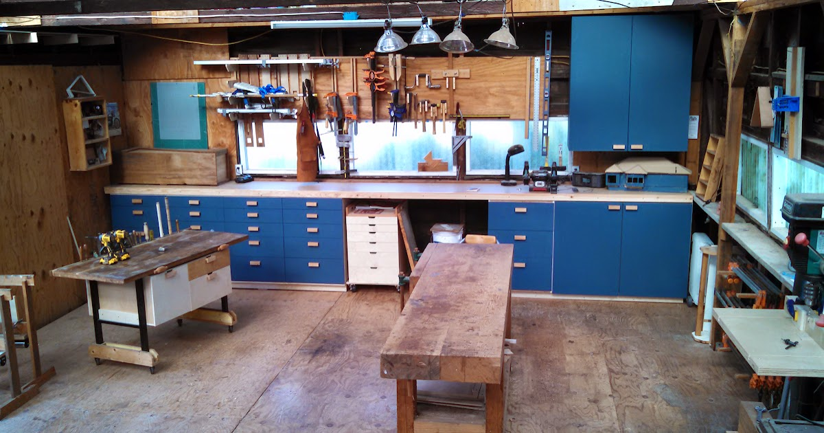 Workshop Countertop Materials : Manual: workshop cabinet countertop installed and ready to roll