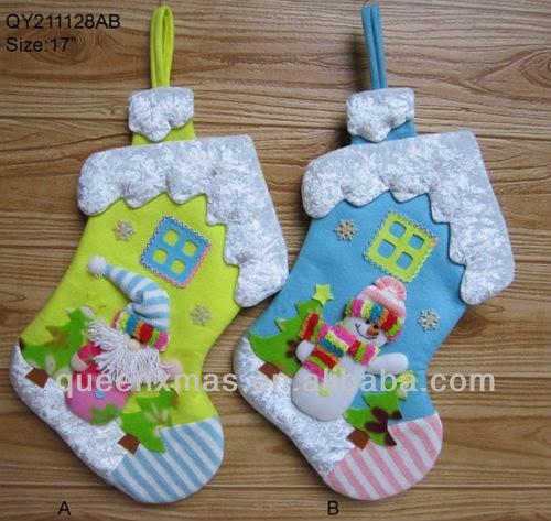 Navidad con patrones botas navide as - Trabajos manuales con telas ...