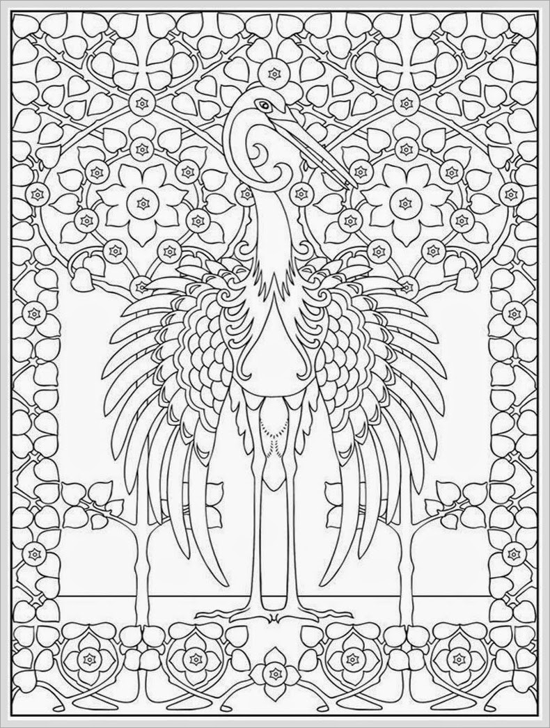 adult coloring pages to color online for free - heron bird adult coloring pages free realistic coloring