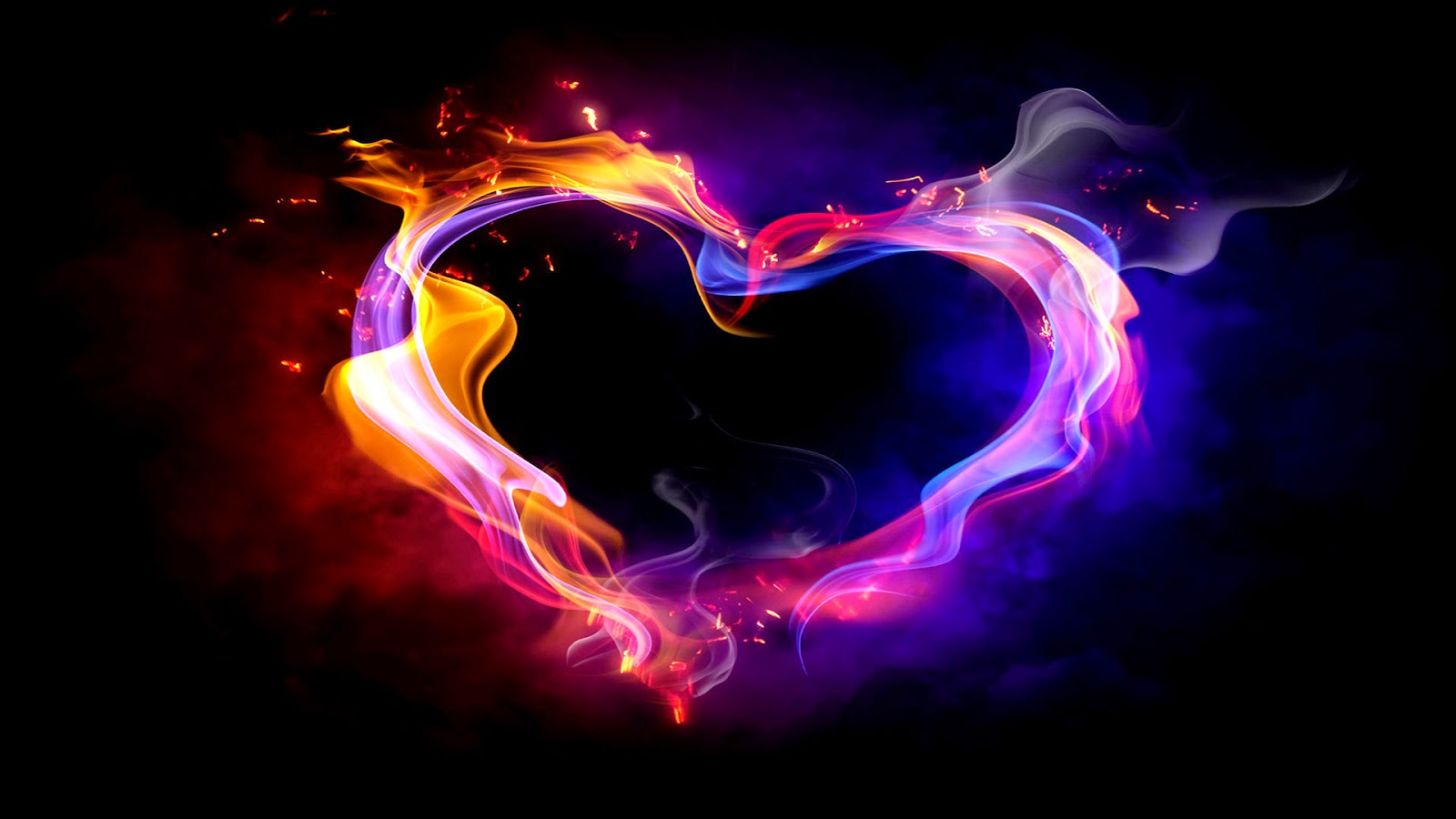 colorful smoke heart hd widescreen wallpapers