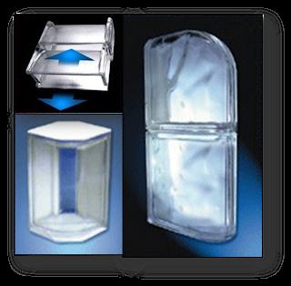 Formar quinas e cantos com blocos de vidro
