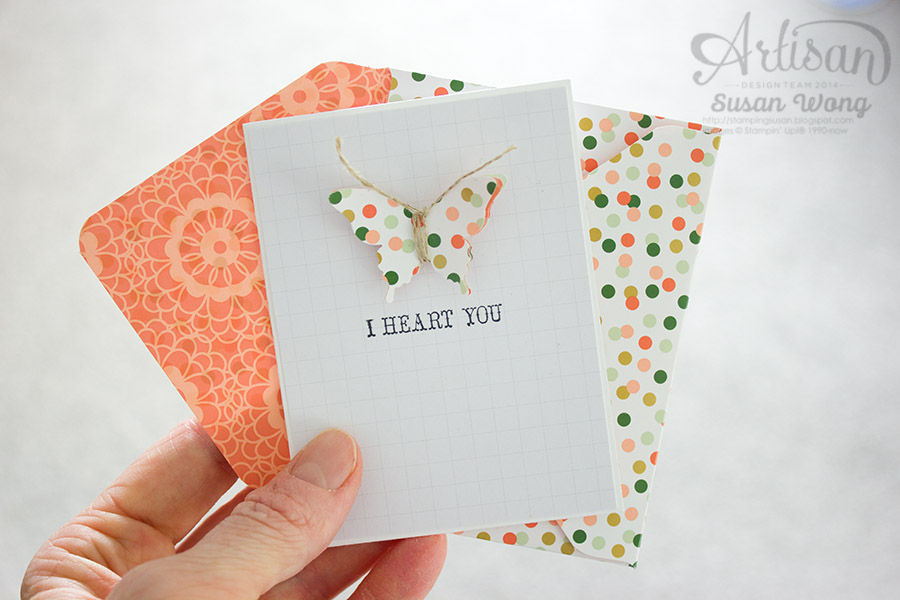 Butterfly Card w. Gold Soiree Papers ~ Susan Wong