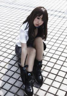 Makiron cosplay as Reika Shimohira from Gantz