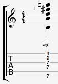 Bm13 Guitar Chord