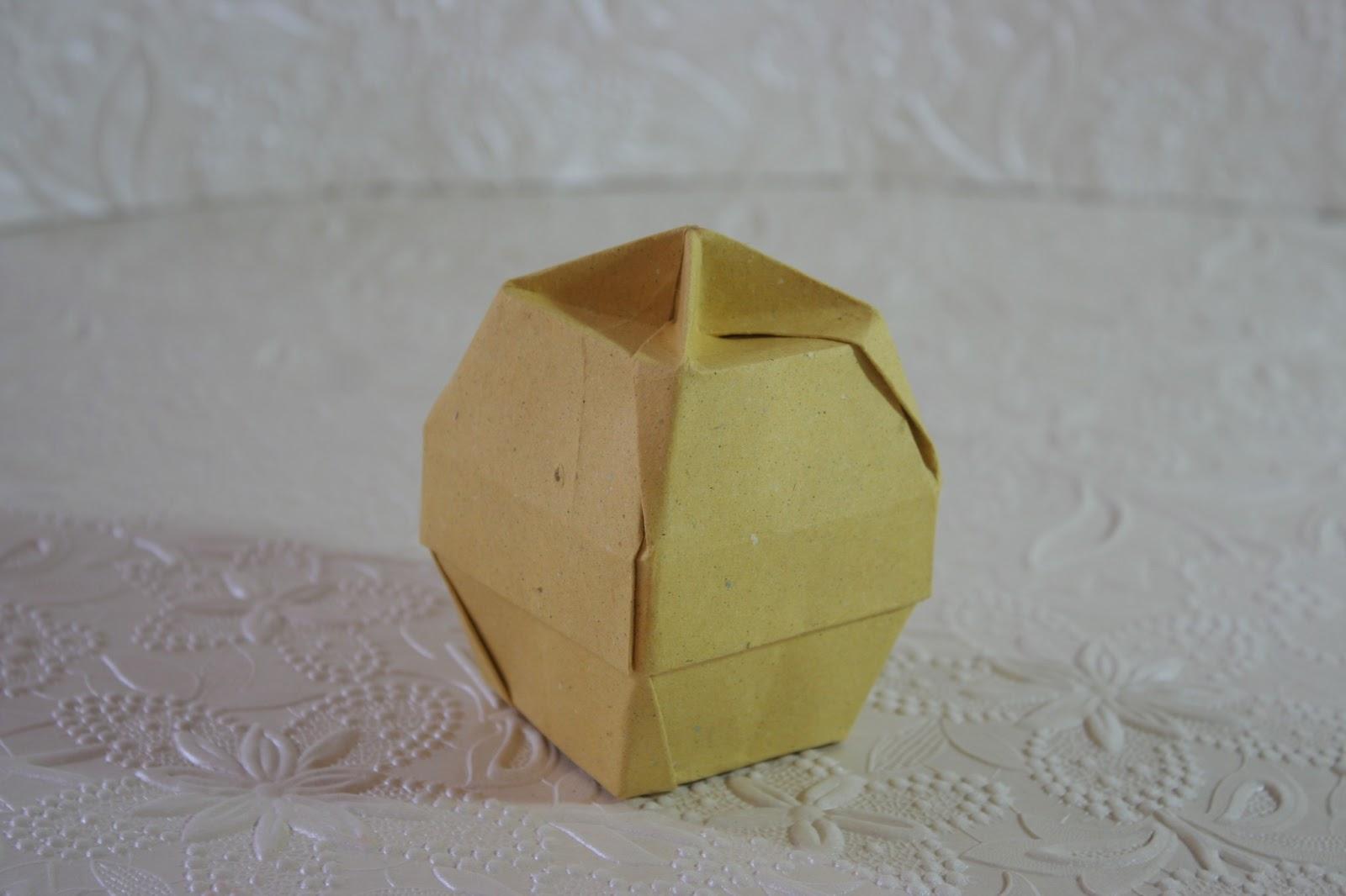 Origami Chinese Lantern Box Constructions Tomoko Fuse Hexagon Instructions